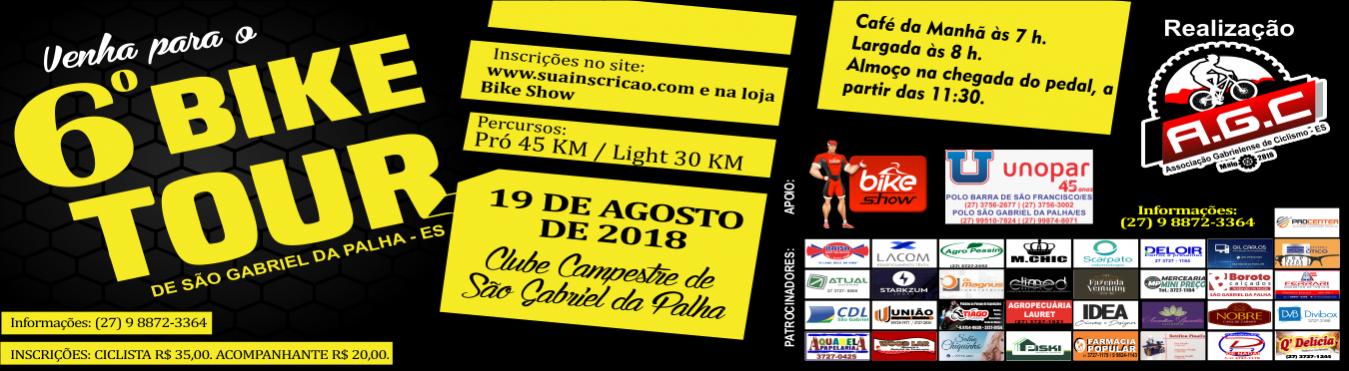 6º BIKE TOUR DE SÃO GABRIEL DA PALHA - ES 2018