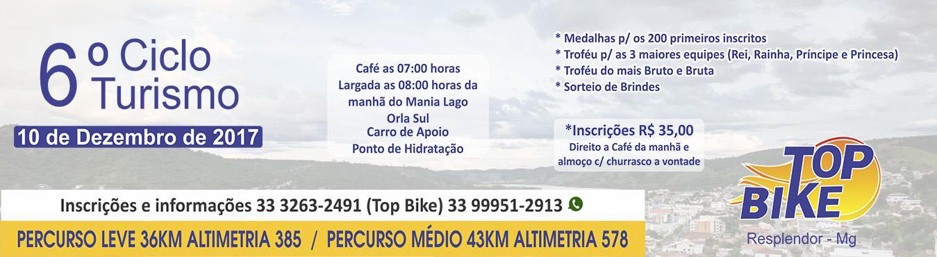 6 ciclo turismo top bike de resplendor