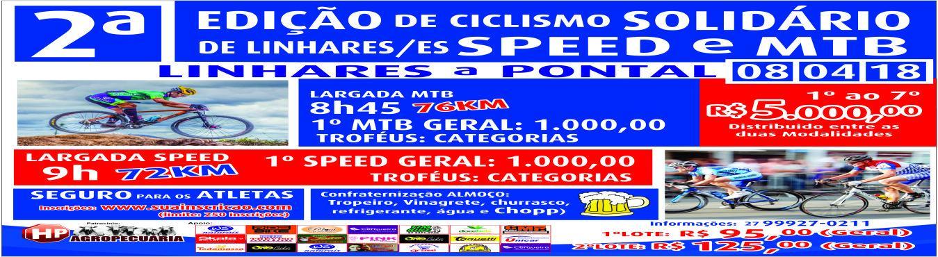 2ª Edição de Ciclismo Solidário Speed X Mtb, Linhares - ES 2018