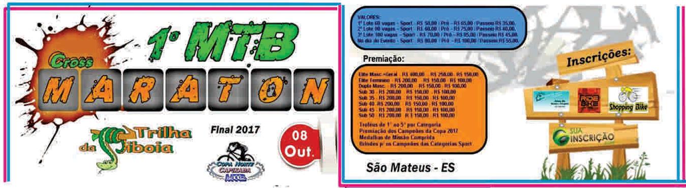 1° MTB CROSS MARATON ULTIMA COPA NORTE CAPIXABA 2017